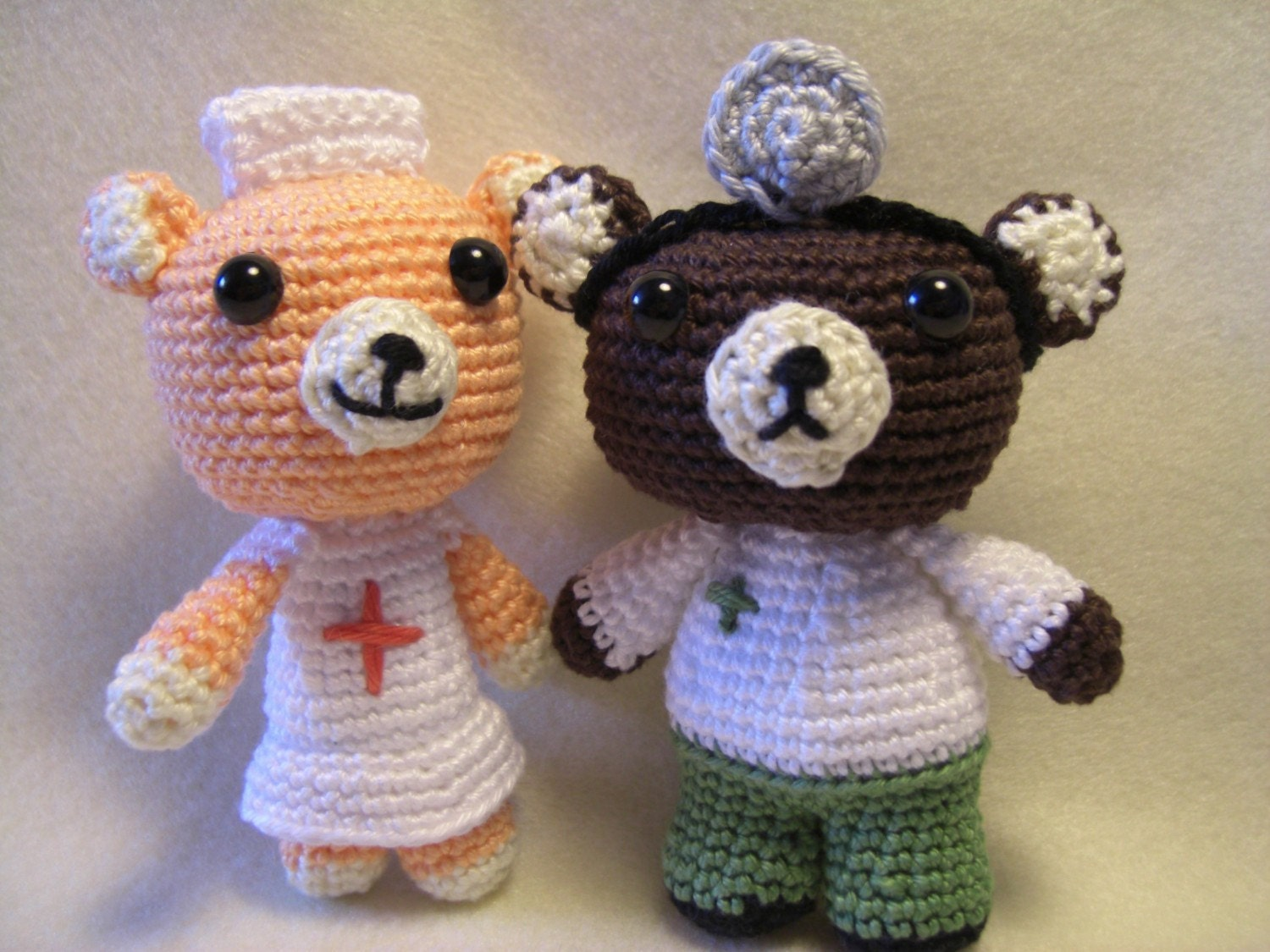Amigurumi Nurse Pattern : Amigurumi Pattern Doctor Bear and the Nurse by taschenmaedchen