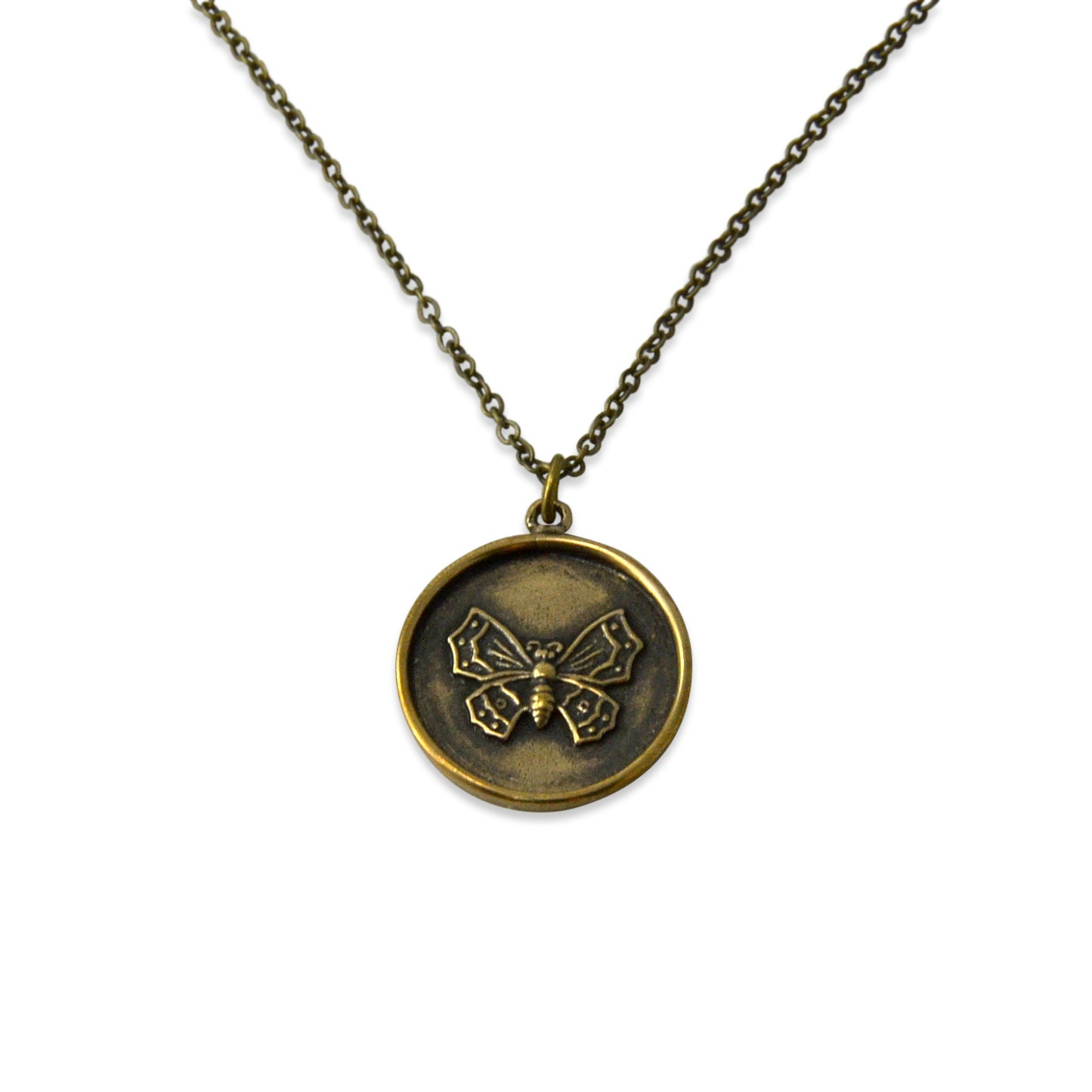 butterfly jewelry bronze butterfly wax seal by gwendelicious