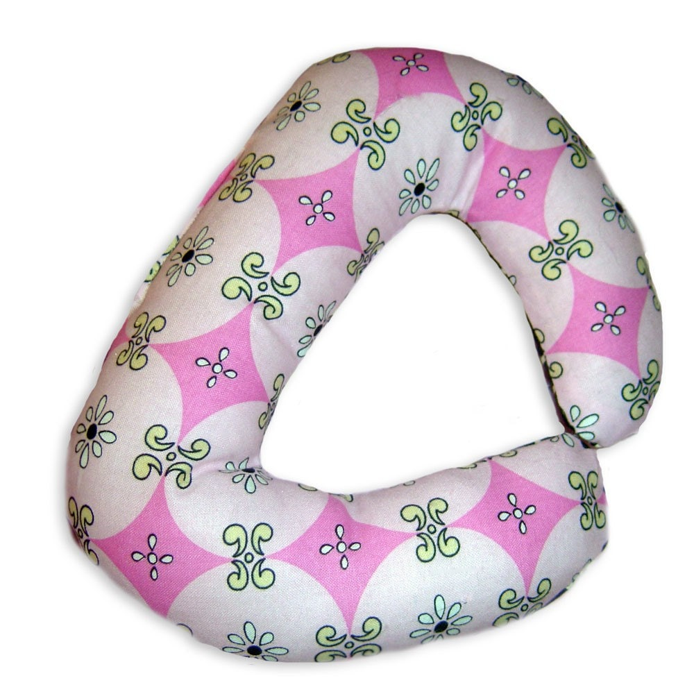 BE BOLD BABY - Preemie to Infant  Head Rest Pillow - Free Spirit MOD  - Baby Travel Neck Support Luxury Lounge Wrap