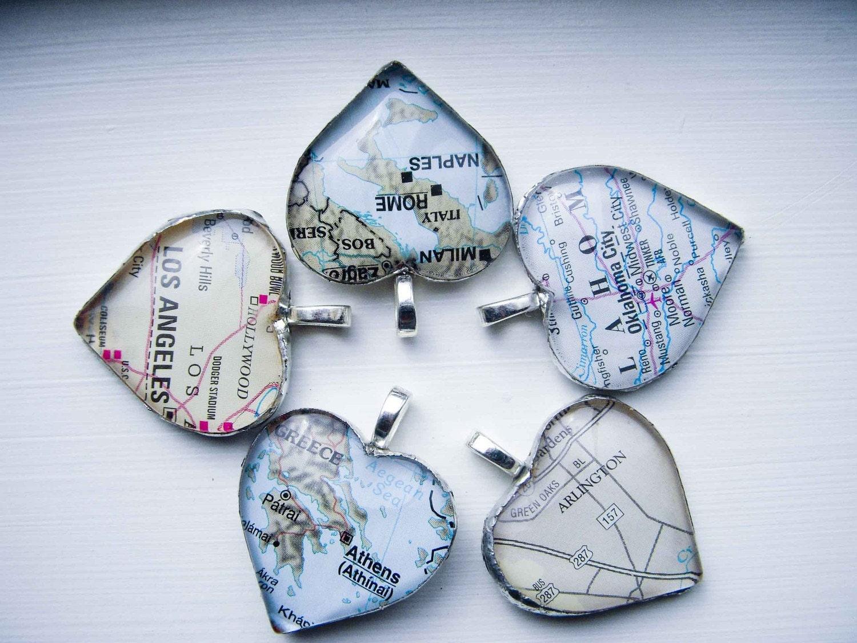 Карта Сердце Ожерелье Стекло Паяные Включает сети вы выбираете Местоположение.