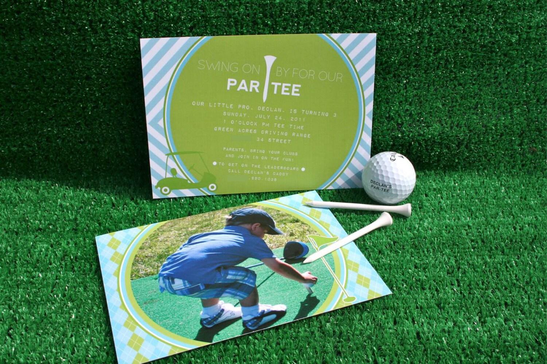 PREPPY GOLF Birthday Party Invitation - Hole in One Golf Invitation - Customized Printable Invitation