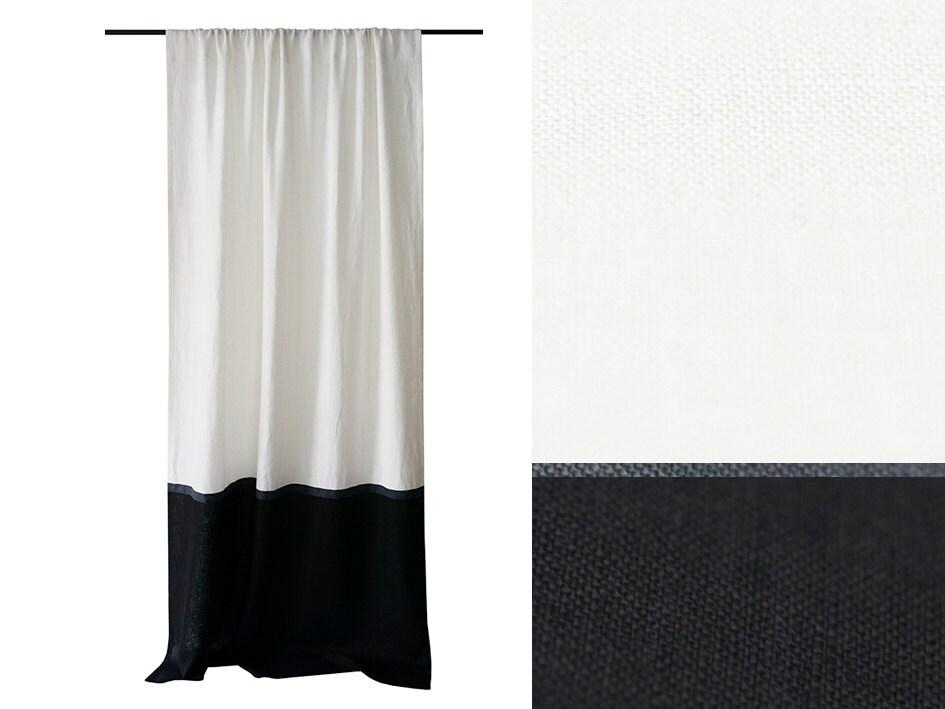 Black linen curtains 2