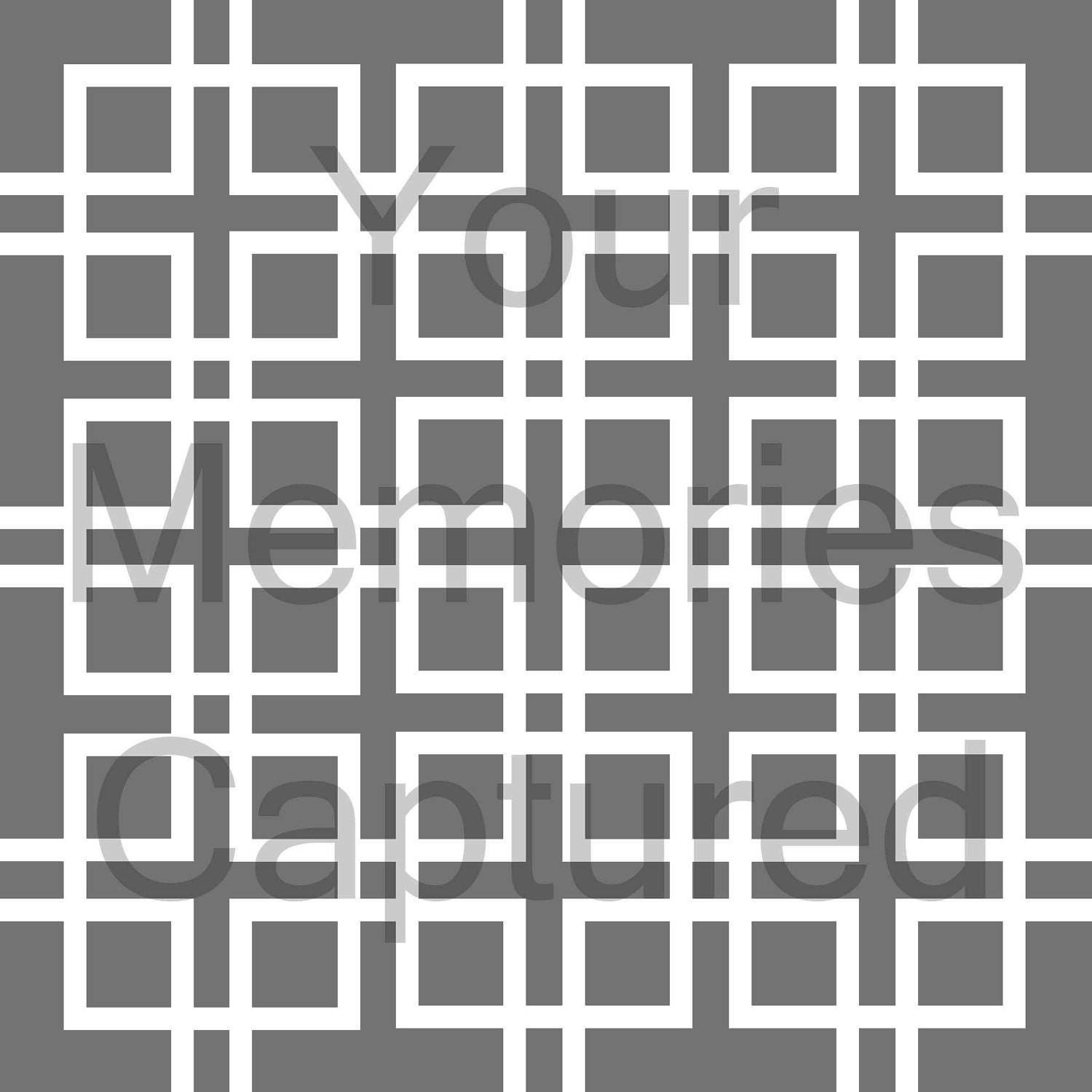 Lattice Linked Squares Reusable Stencil - for fabric, wood, paper, canvas, walls - 8x8