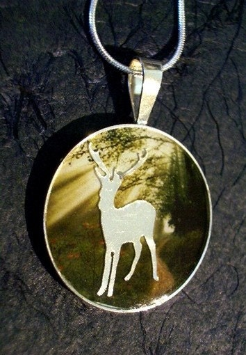 Eclipse Series FOREST'S KEEPER Pendant, Sterling Silver, Handmade, Nature, TRINKET