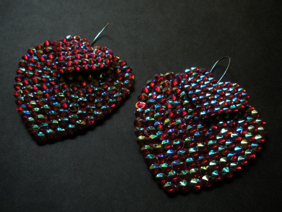 Sweet Heart Crystal Studded Earrings