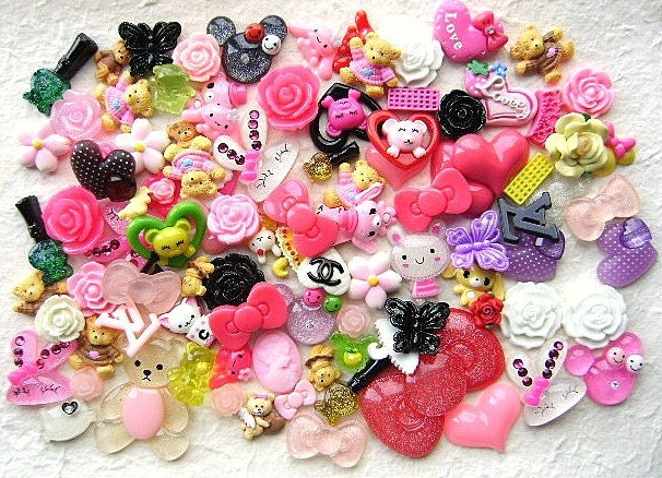 WHOLESALE Japanese 100 Mix Cabochons Charms C