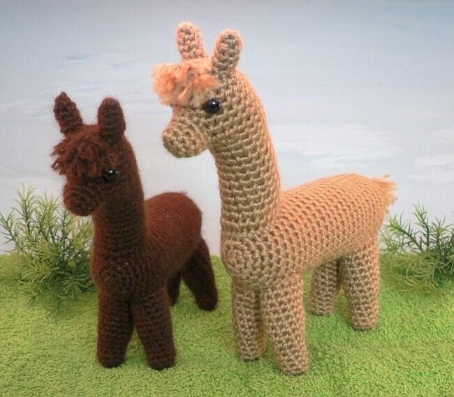 Alpaca amigurumi CROCHET PATTERN natural fiber fibre