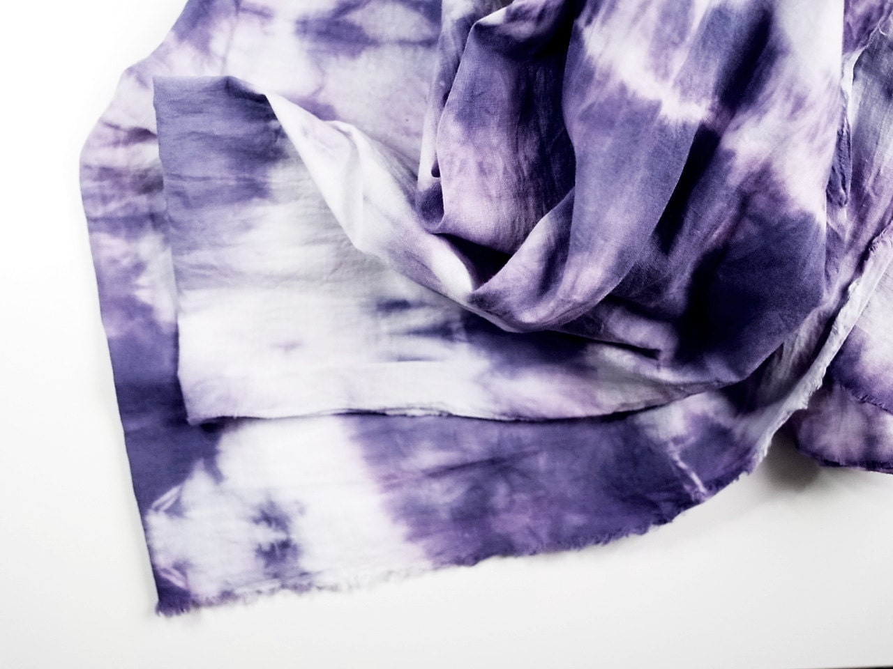 Scarf: purple / Ultra violet hand dyed 100% oversized cotton scarf / shawl (summer trend / tie dye / fashion accessory) - KMBerlin