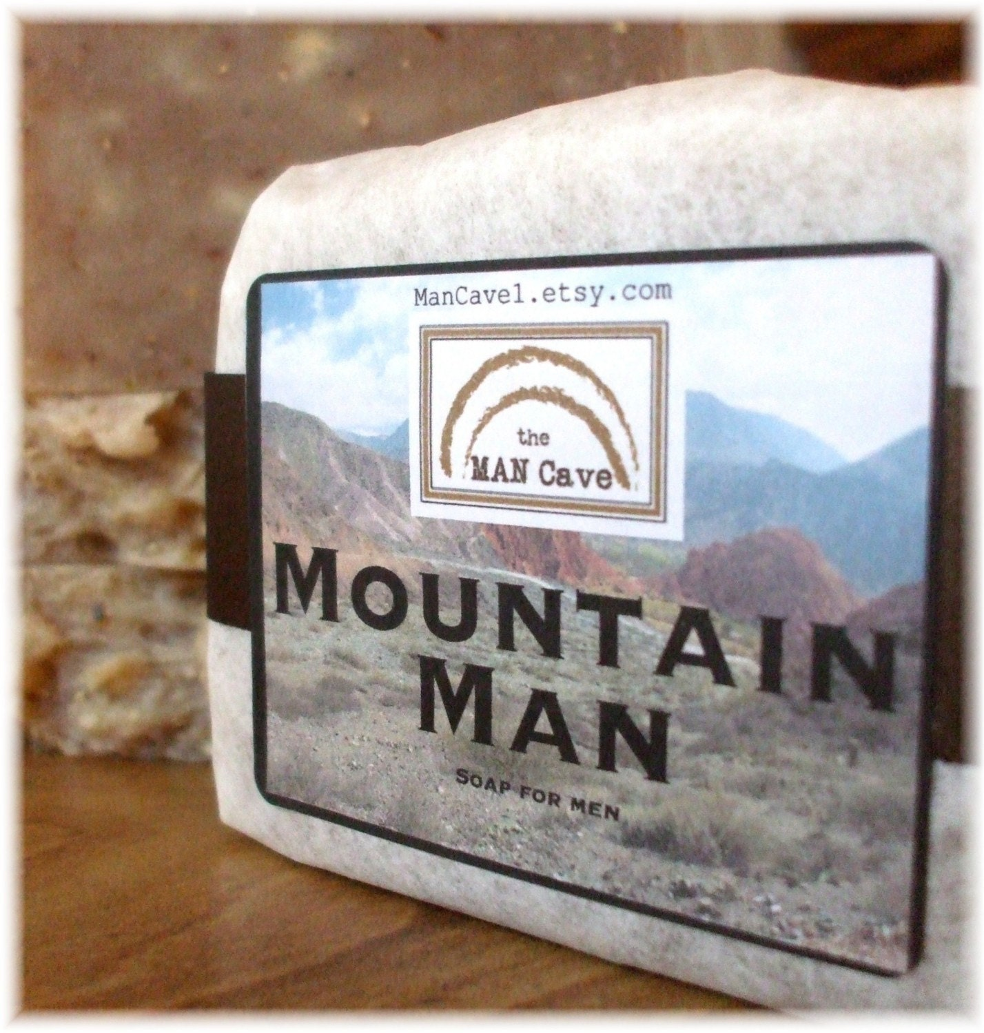 Man SOAP - MOUNTAIN MAN - Exfoliating Soap Bar with Organic Oils and Shea Butter by Man Cave Soapworks - ManCaveSoapworks