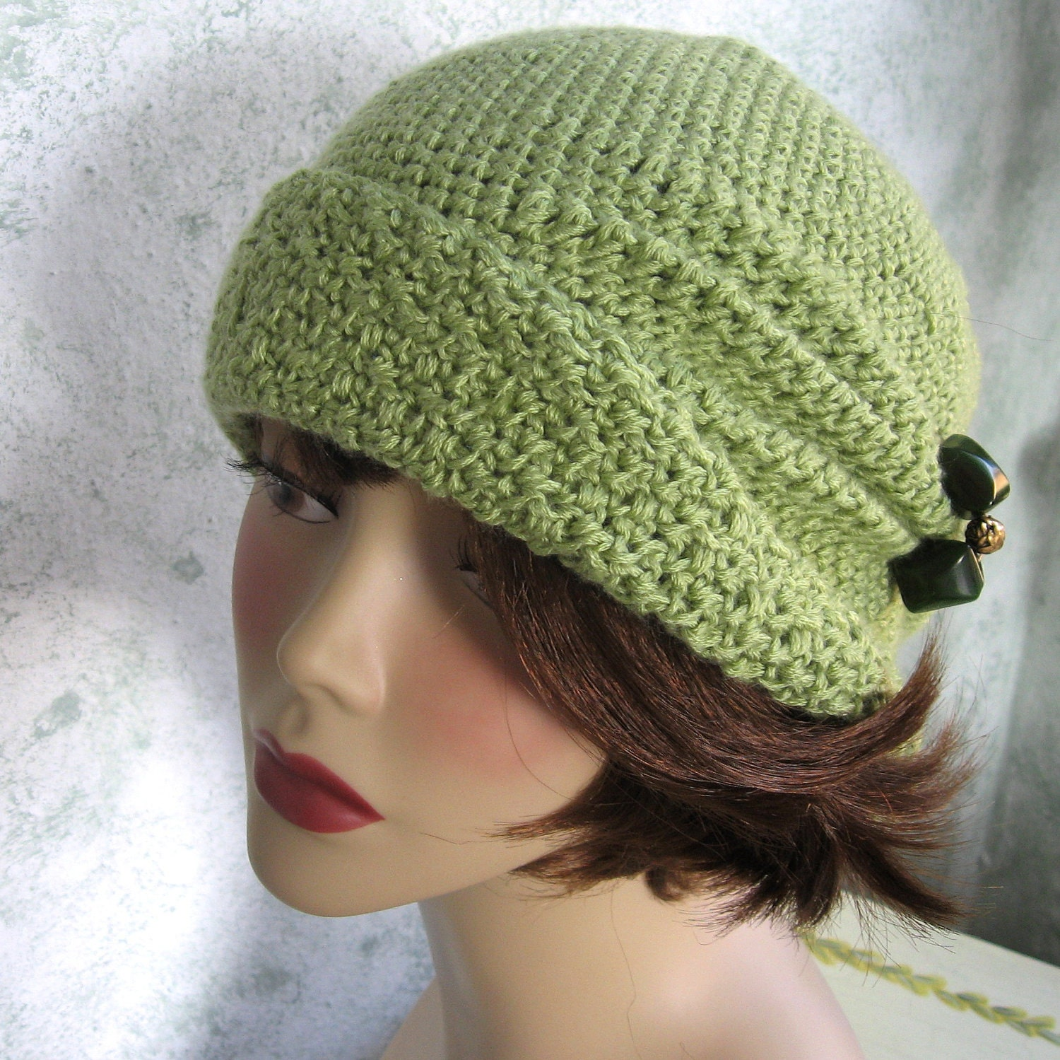 Crochet Pattern Womens FLAPPER HAT Cloche With Side Pinch Pleats  PDF May Resell Finished
