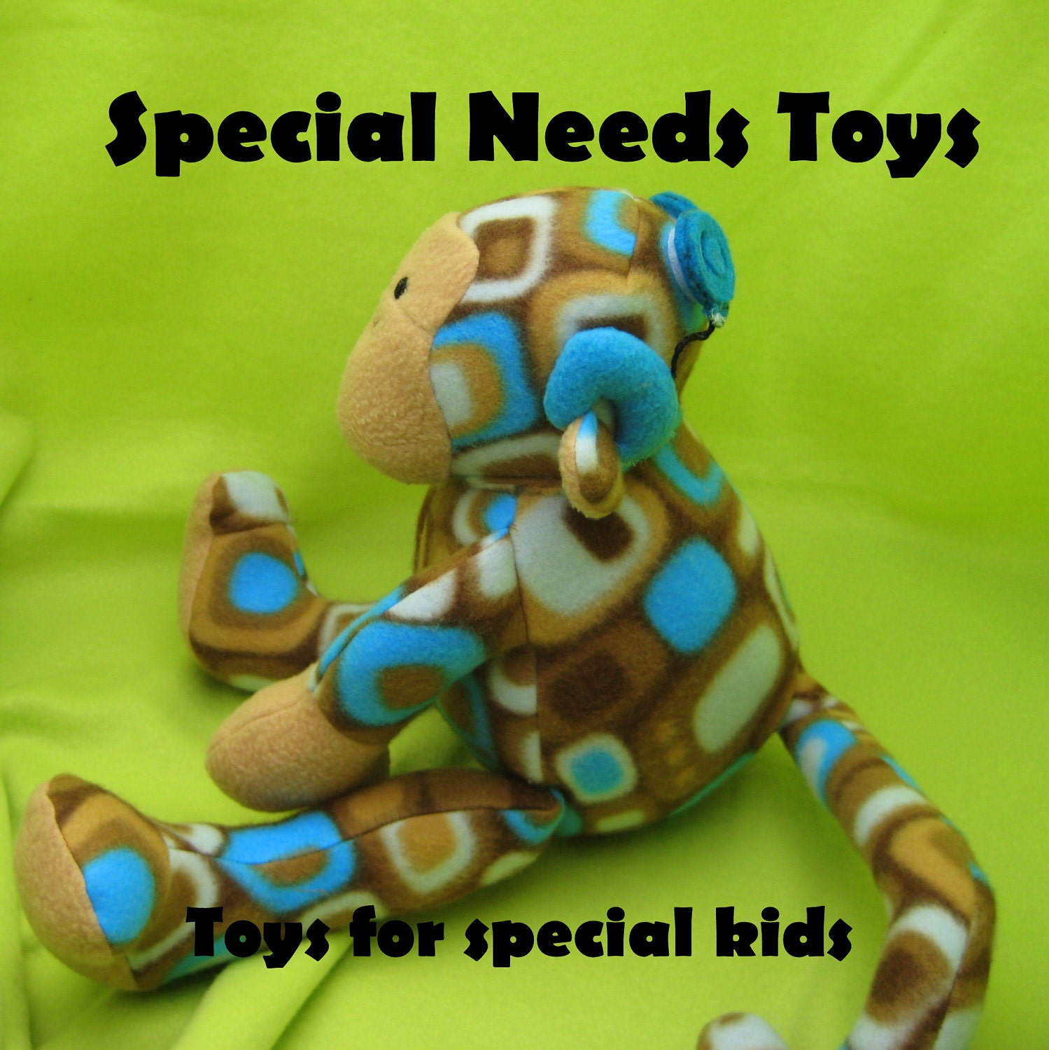 Toys For Sensory Processing Disorder : Items similar to custom special needs plush toys hearing