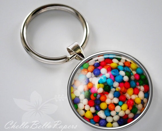 Candy Sprinkle Colorful Fun Keychain Pendant