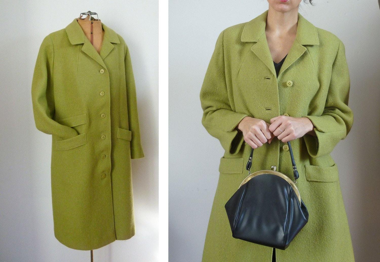 Vintage 60s SPLIT PEA Wool Coat