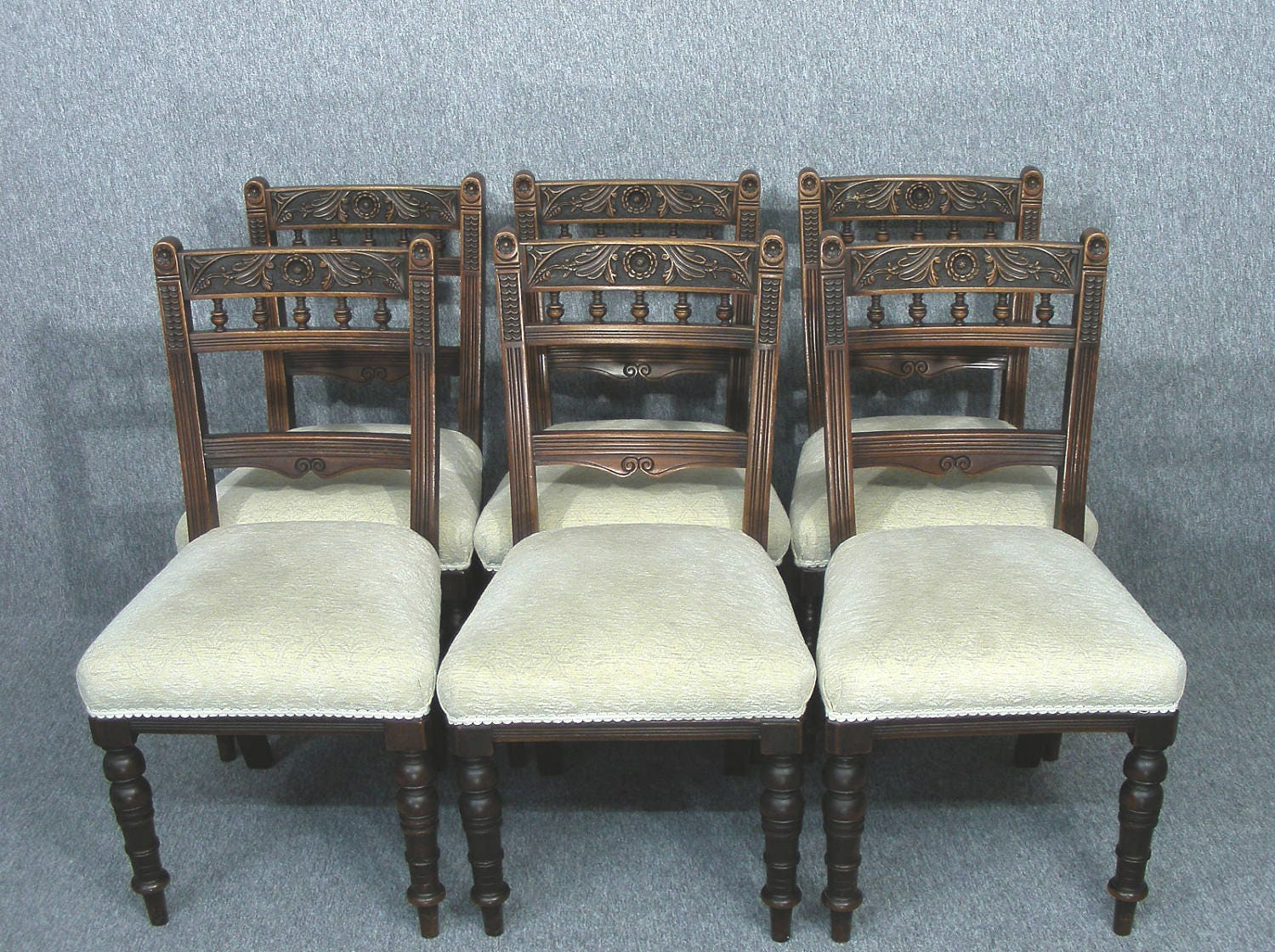 Dining Chairs Set Of 6 Antique Carved Dining Chairs  Matching Armchairs listed Separately