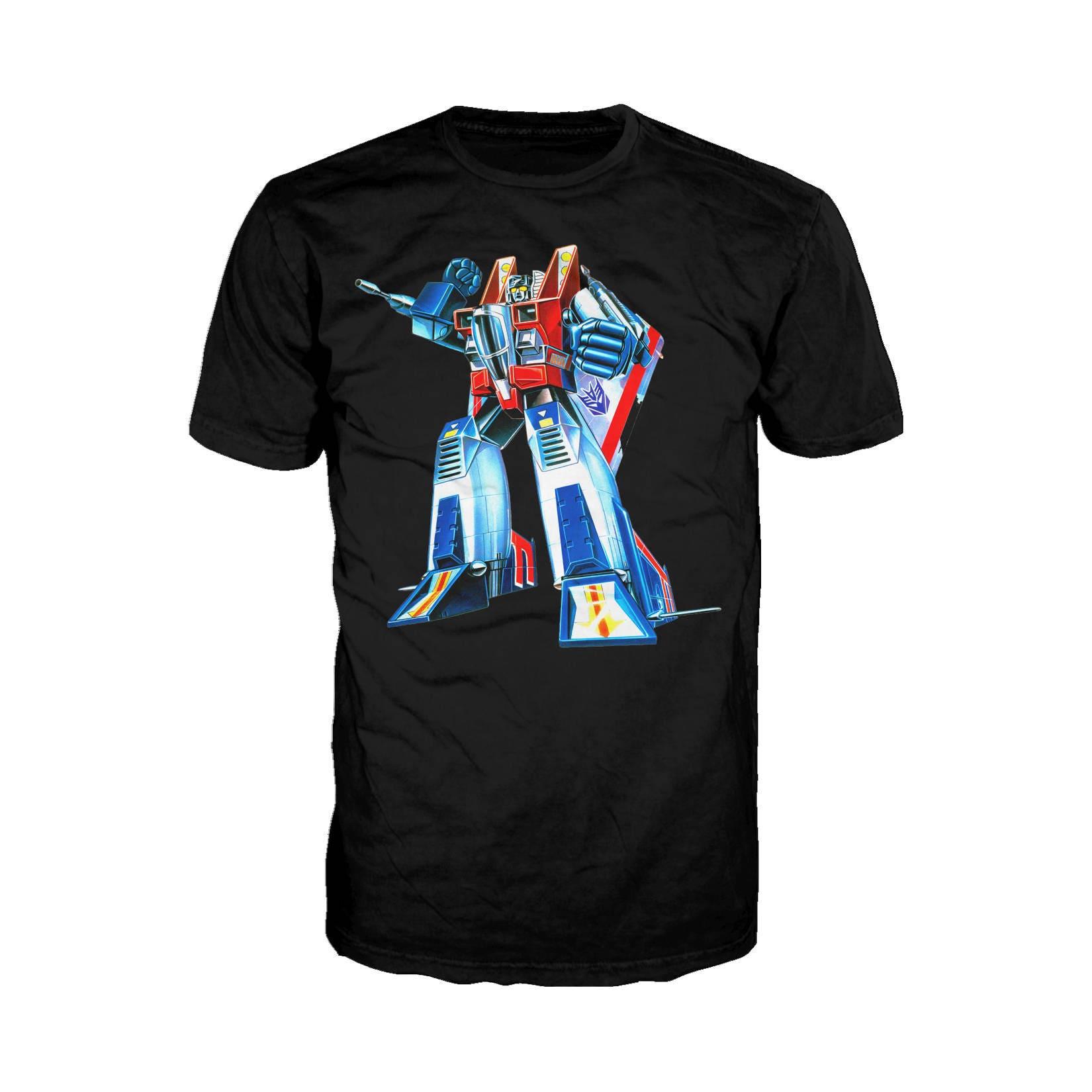 Transformers Starscream G1 Official Hasbro Mens Tshirt (Black)