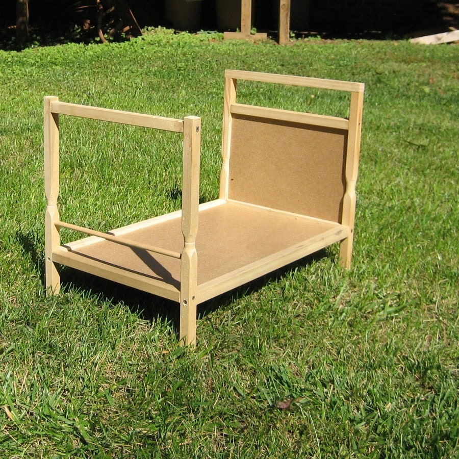24 Inch Four Poster Doll Bed Unfinished Wood By Ooodles On