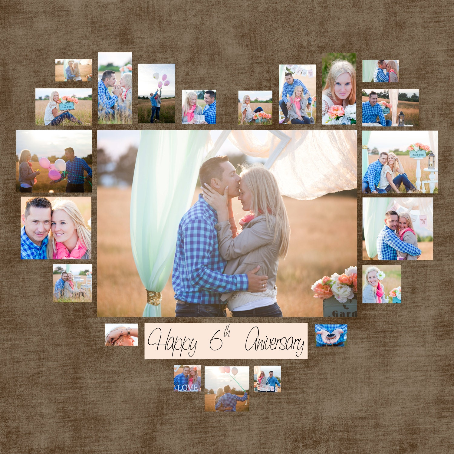 Heart Collage Template - Bing images