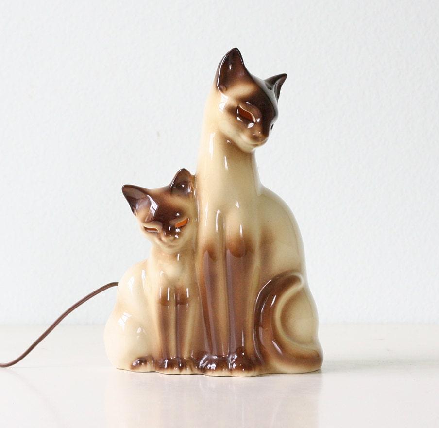 Vintage Cat Lamp By Kron Siamese Cat Tv Lamp By Bellalulu