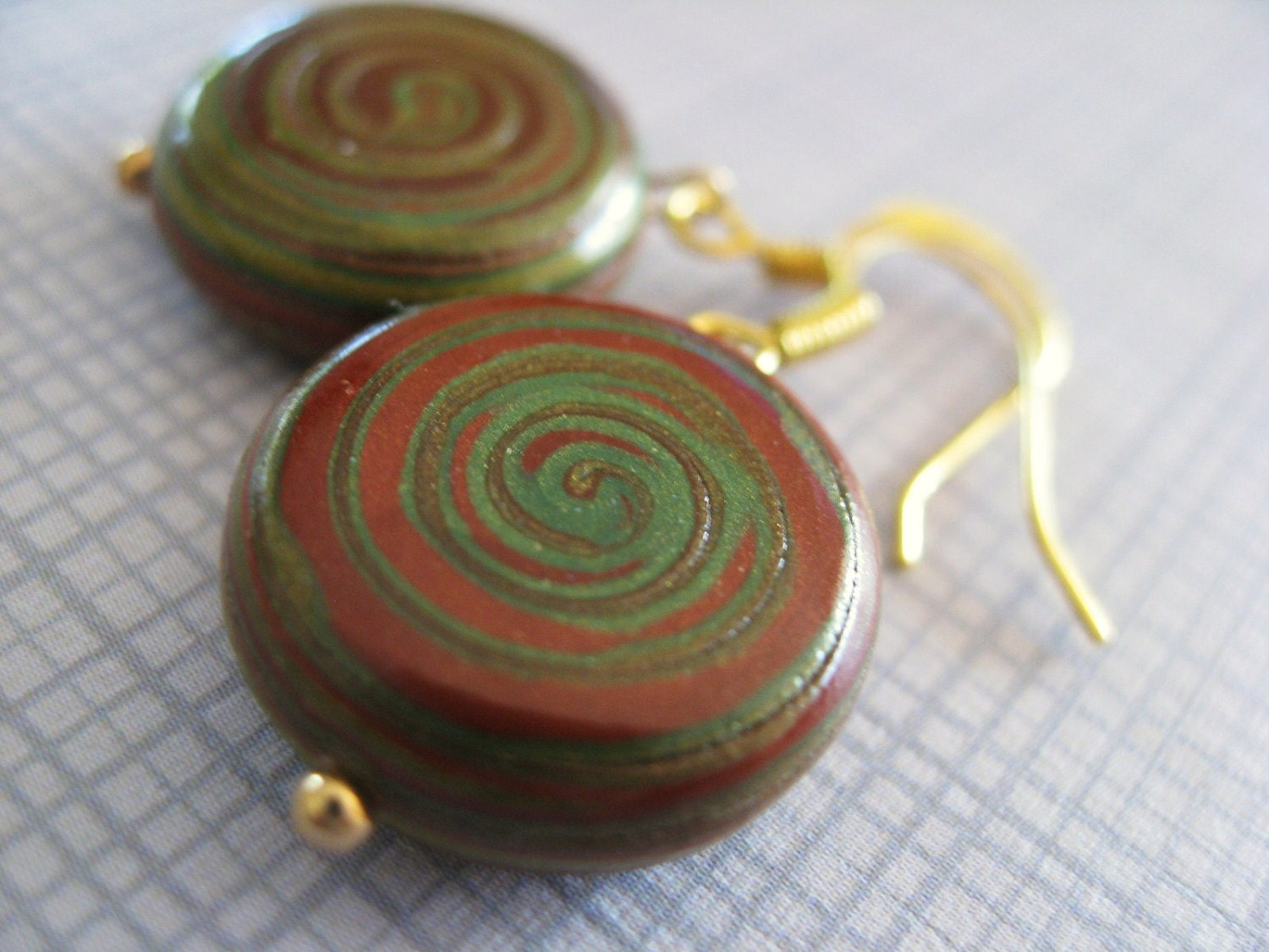 Pinwheel - Polymer Clay Earrings