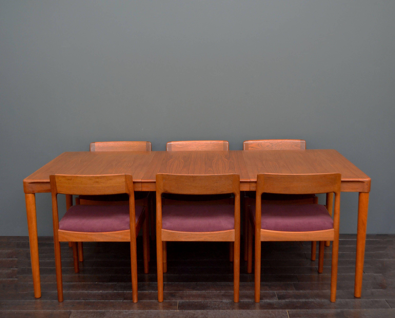Rare Large Vintage Retro Mid Century Scandanavian Danish Bramin Extending Teak Dining Table