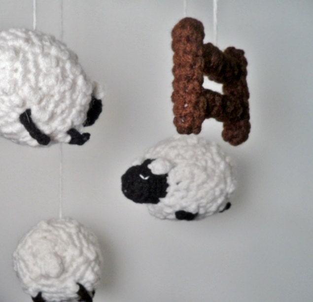 Items similar to Crocheted Amigurumi Stars and Moon ...