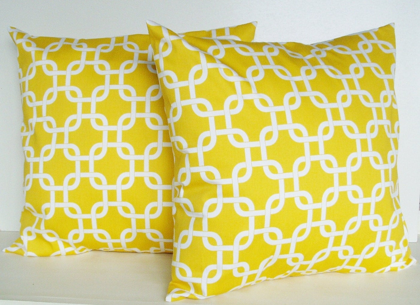 Throw Pillow Covers Yellow : Yellow Pillow Covers Throw Pillows Decorative by BlossomPillowCo