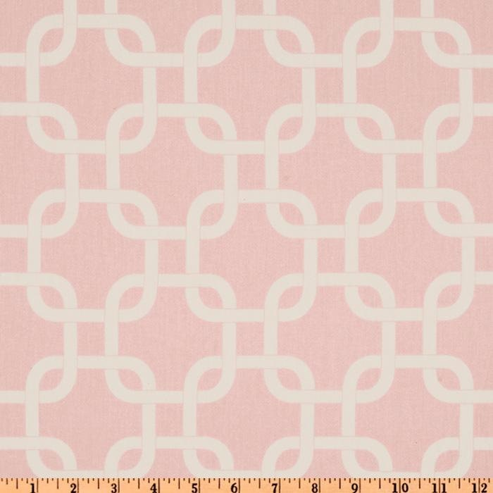 pink fabric by the yard home decor geometric chain by