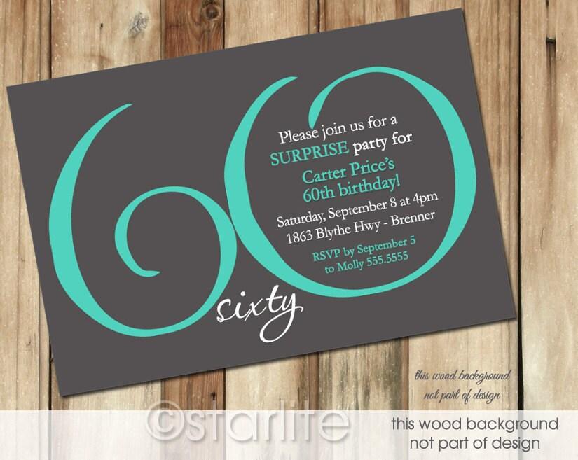 60th birthday invite templates