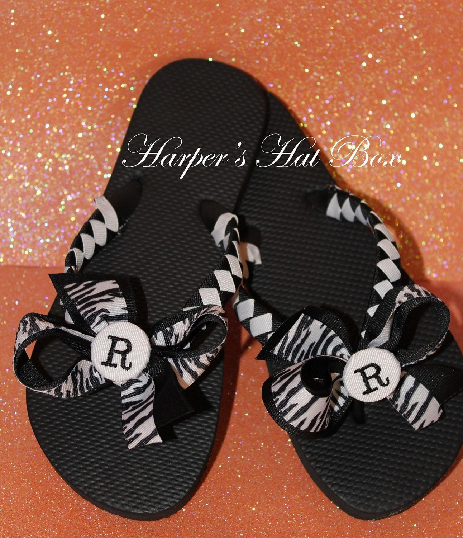 Adult Initial flip flops