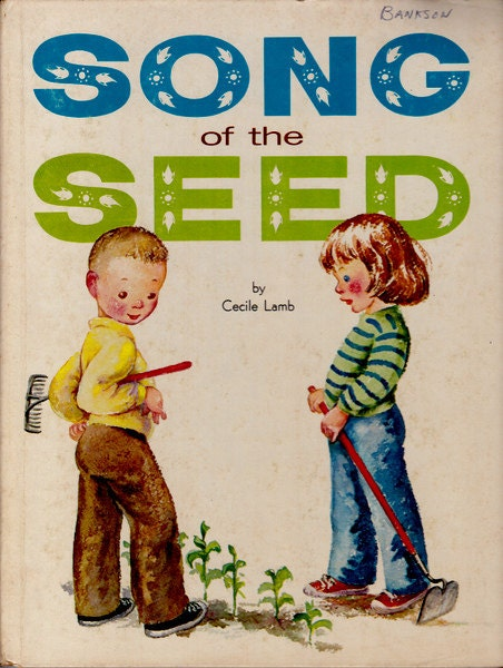 items similar to vintage kids book song of the seed