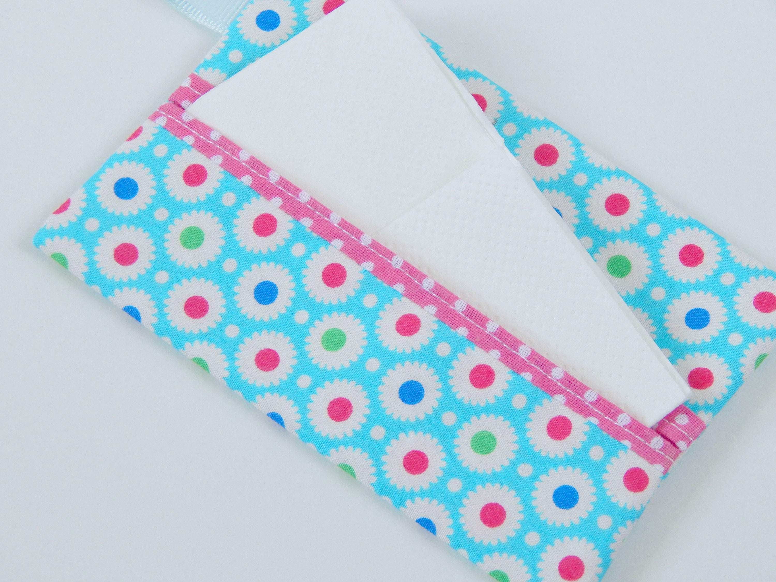 Tissue cover handmade pocket tissue cover floral tissue cover a perfect handbag accessory for Summer or a lovely gift.
