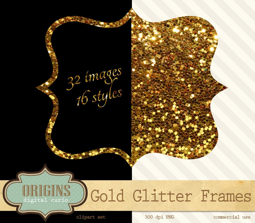 Gold Glitter Social Media Graphic  Templates by Canva