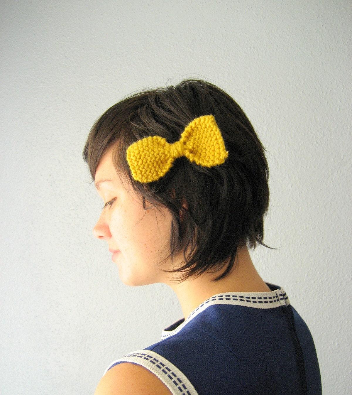 Saffron Knit Hairbow
