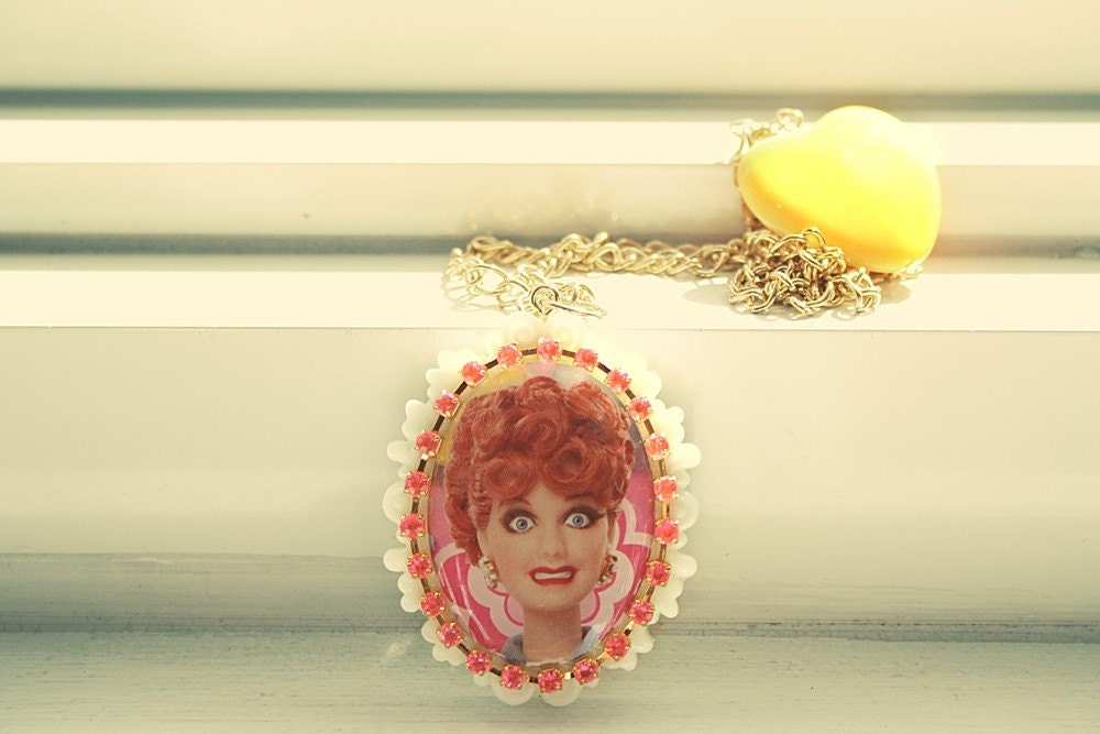 I love Lucy Barbie Necklace