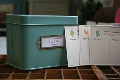 Recipe Card Set with Martha Stewart Recipe Box
