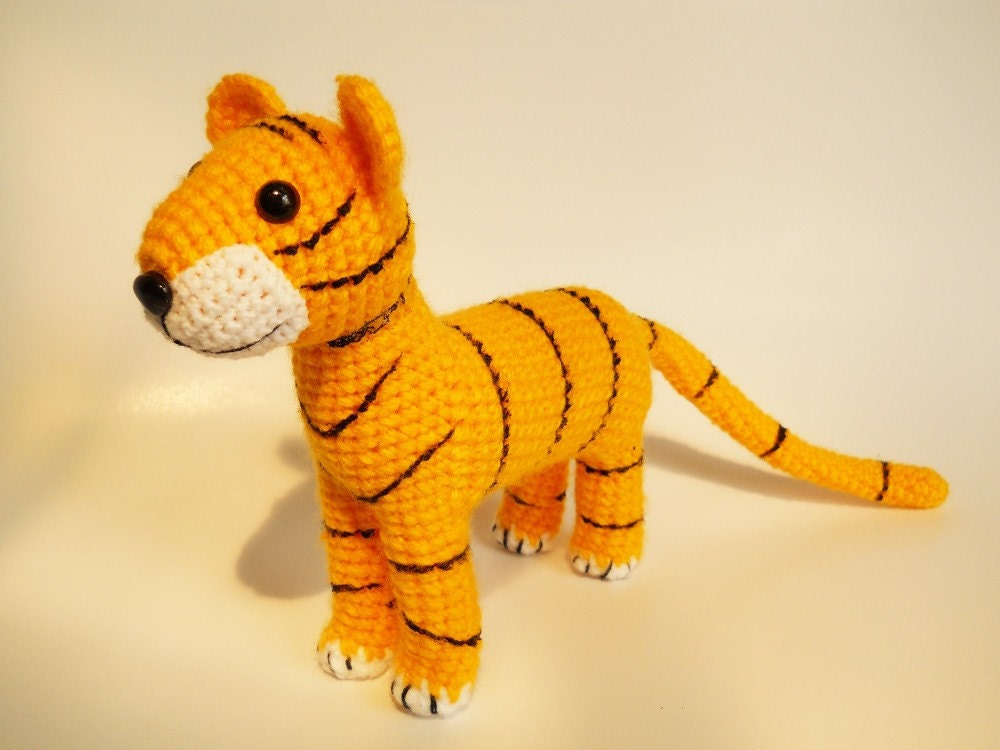 Shanga the Baby Tiger - miniature collectible toy - made to order