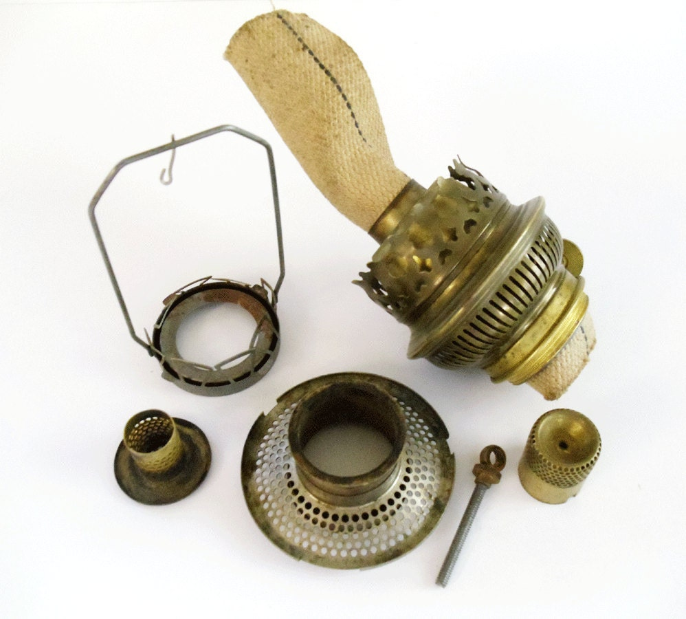Antique Replacement Parts : Vintage oil lamp replacement parts brass by