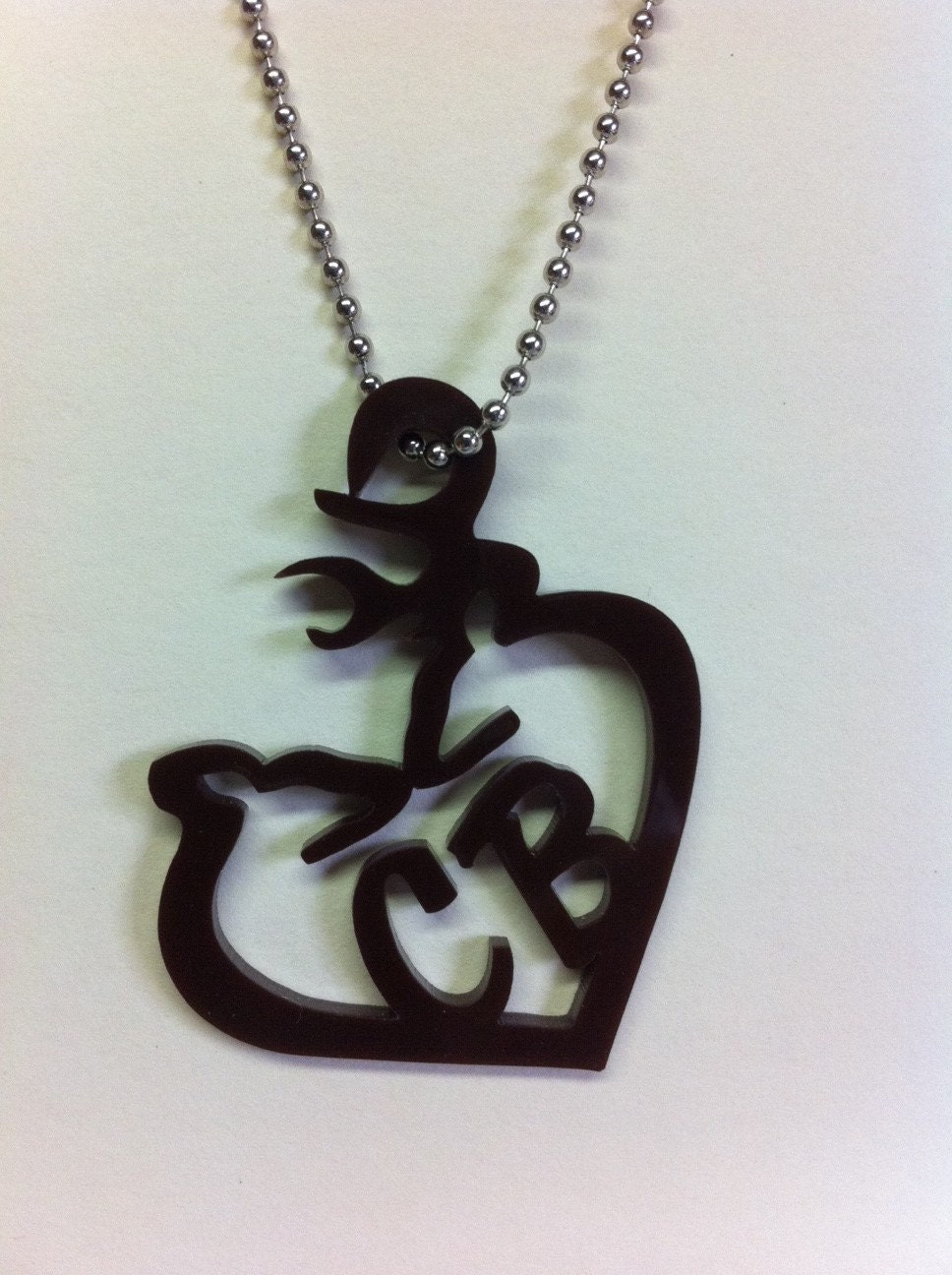 doe and buck custom personalized necklace pendant by