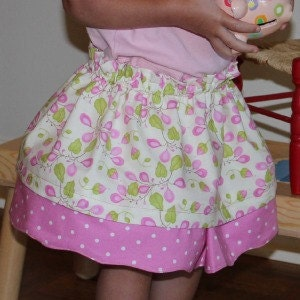 Girls' Reversible Skirt - PDF Sewing Pattern and Tutorial