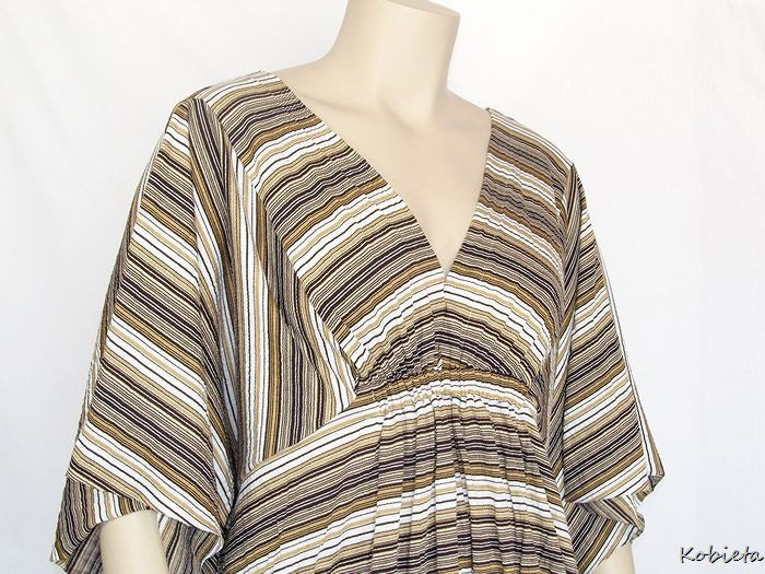 *Kobieta SALE*Plus Size Maternity Shirt-Retro Caftan Tunic-Before, During& After PG~L/XL