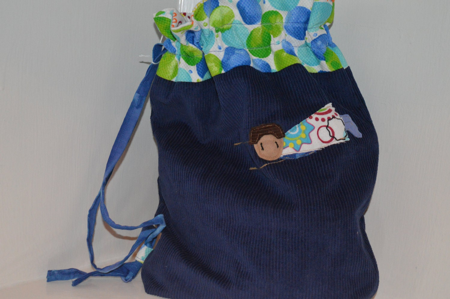 Blue Super Hero Carry Bag