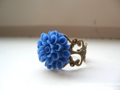 Blusher - Cobalt Blue Mum Ring