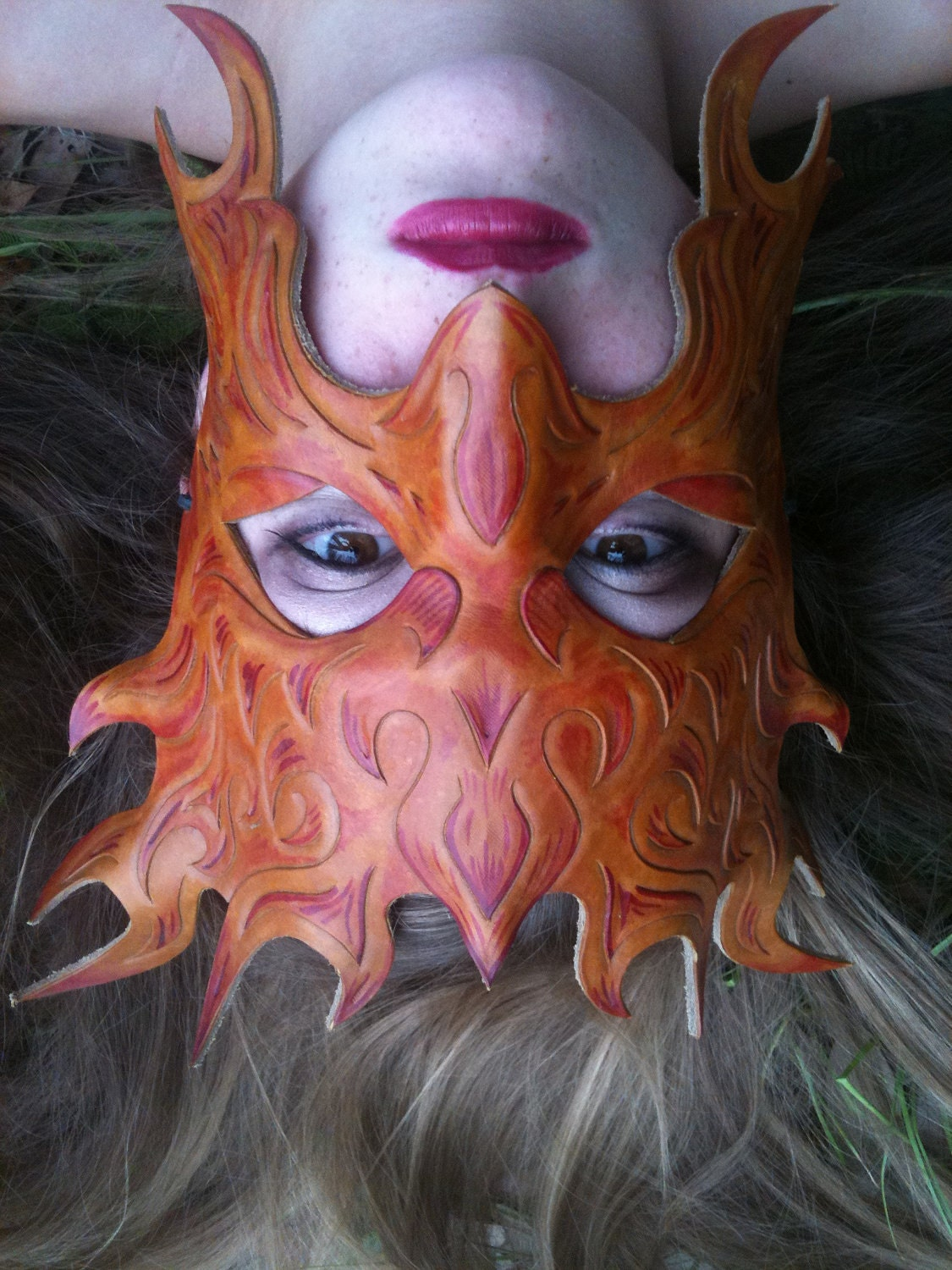 Leather Flame Mask