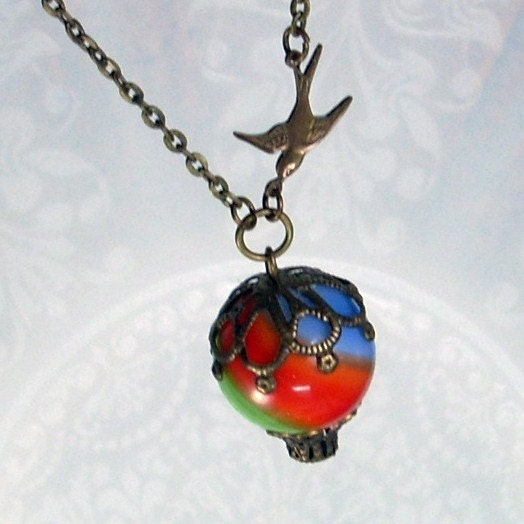 Fly Away With Me - Hot Air Balloon Pendant