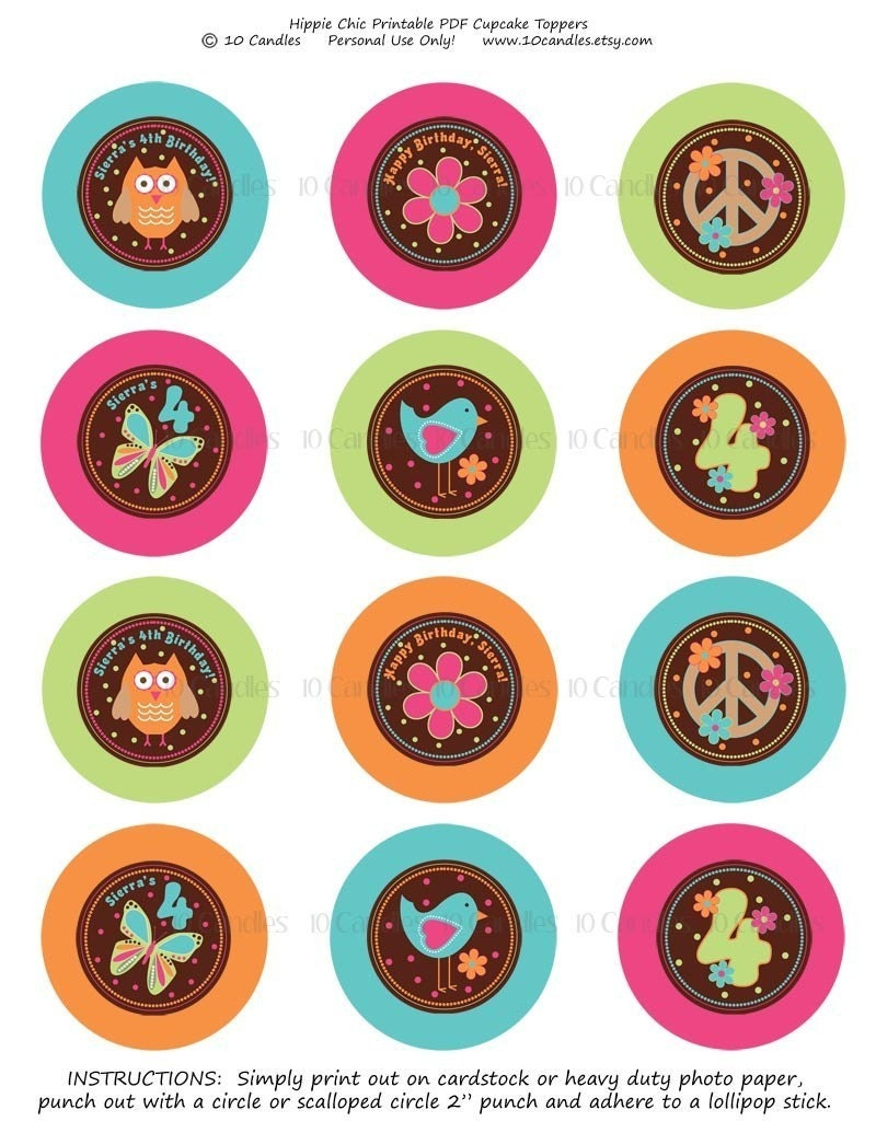 It is a graphic of Fan Printable Cupcake Toppers