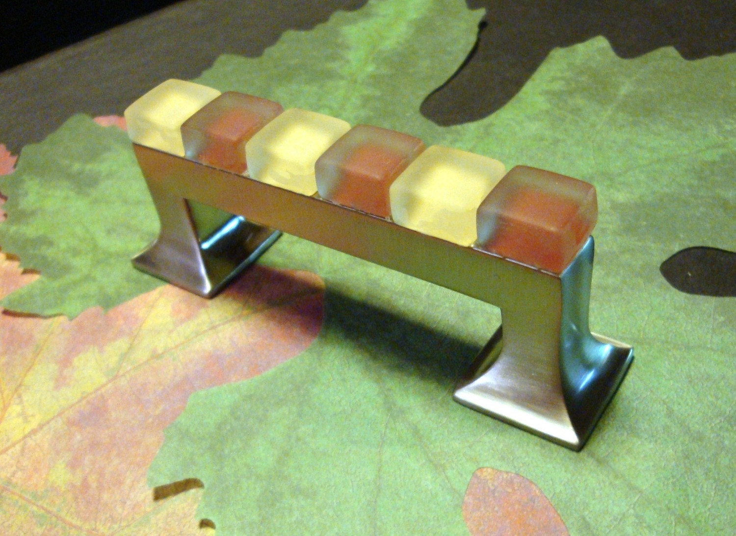 Fall / Thanksgiving Glass Drawer Furniture Pull