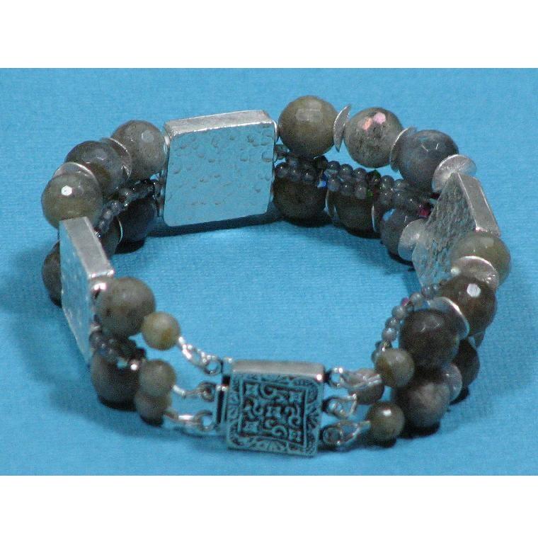 FAME Faceted Labradorite Bracelet - Free Shipping
