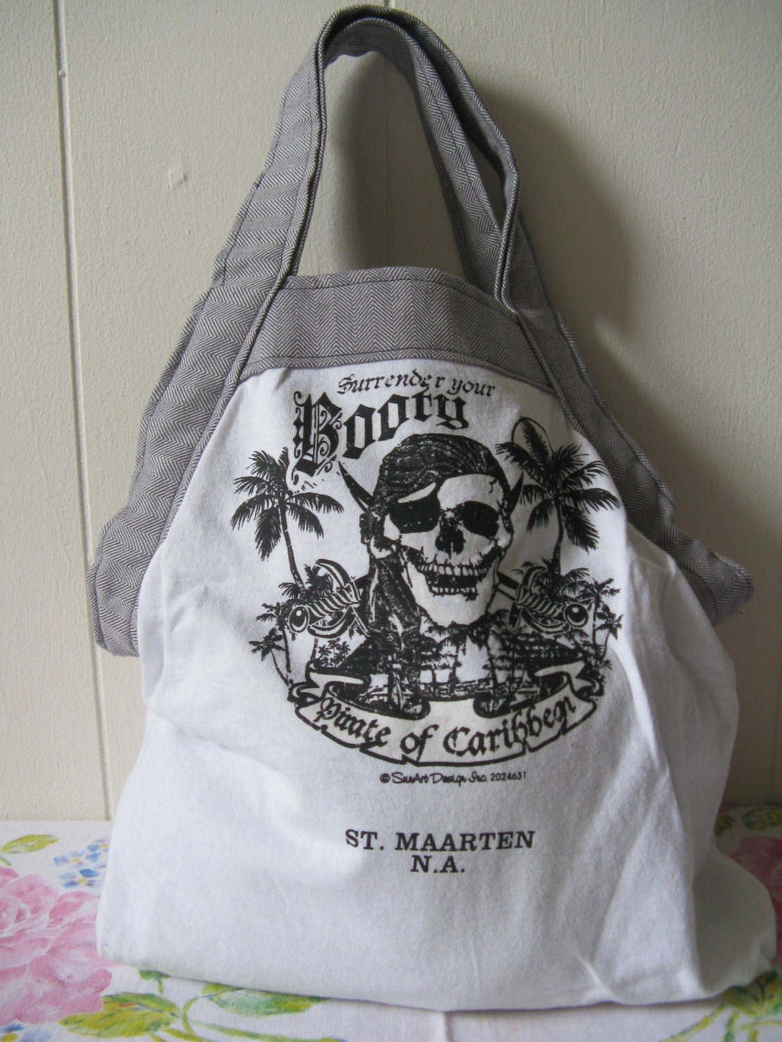 On Sale OOAK Recycled Tee Tote Arr Matey