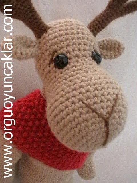 Free Crochet Reindeer Ornament Patterns : Amigurumi Cristmas Reindeer Pattern by Denizmum on Etsy