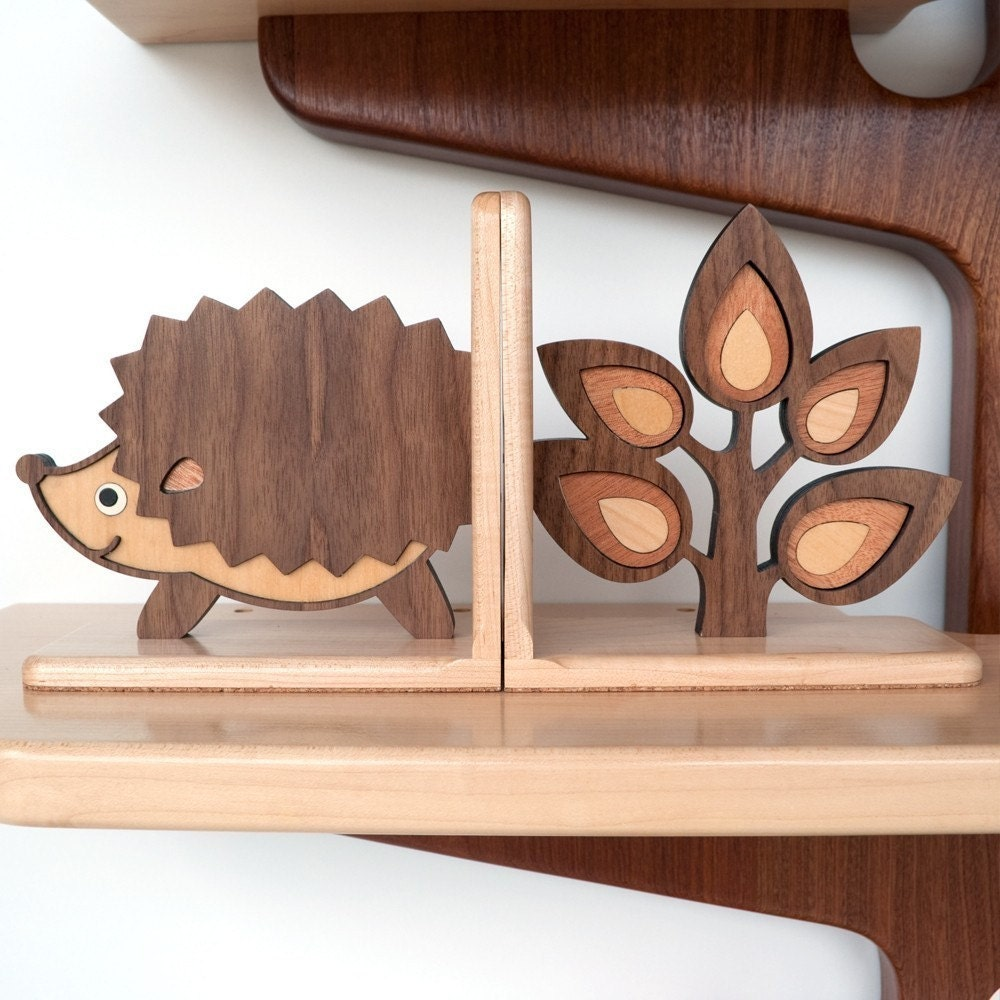 SALE- 2 Woodland Forest Friends Bookend Pair Mix / Match